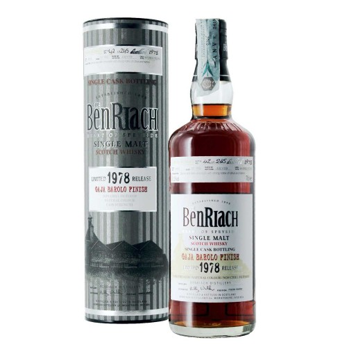 whisky limited release 31 yrs 1978 affinato in botte di barolo gaja 51.2% 70 cl benriach - enoteca pirovano