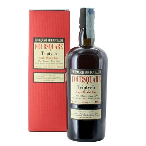 single blended rum foursquare triptych 70 cl  - enoteca pirovano