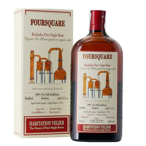 rum foursquare 2013 barbados pure single rum 70 cl habitation velier  - enoteca pirovano