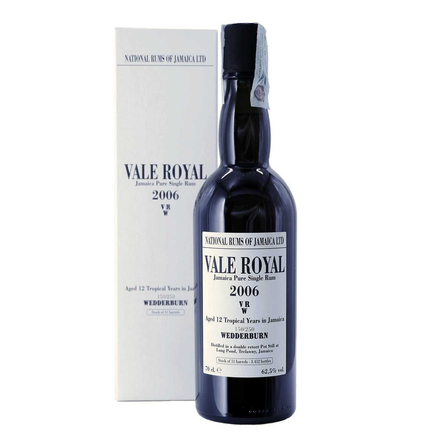 jamaica pure single rum vale royal vrw 2006 70 cl long pond - enoteca pirovano