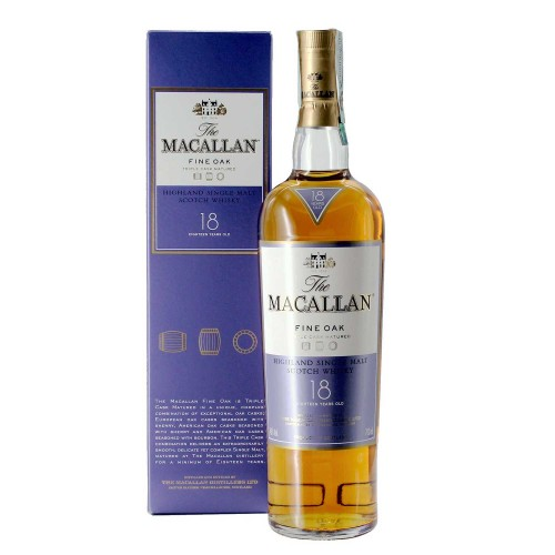 whisky macallan fine oak 18 years old 70 cl - enoteca pirovano