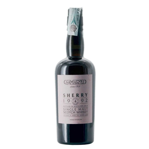 whisky single malt sherry 1992 from glen scotia distillery 50 cl samaroli - enoteca pirovano