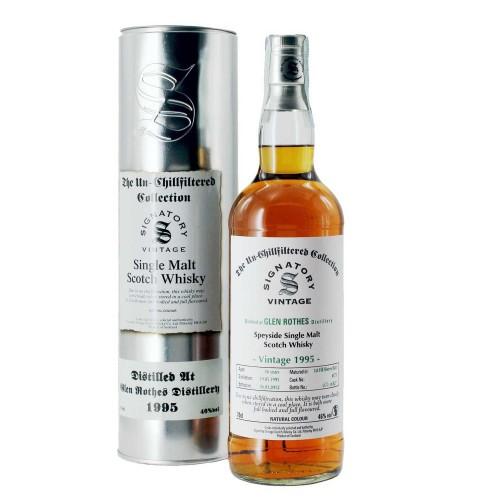 whisky glen rothes 1995 70 cl signatory - enoteca pirovano