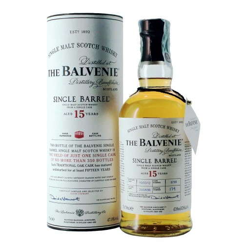 whisky the balvenie single barrel 15 anni 70 cl  - enoteca pirovano