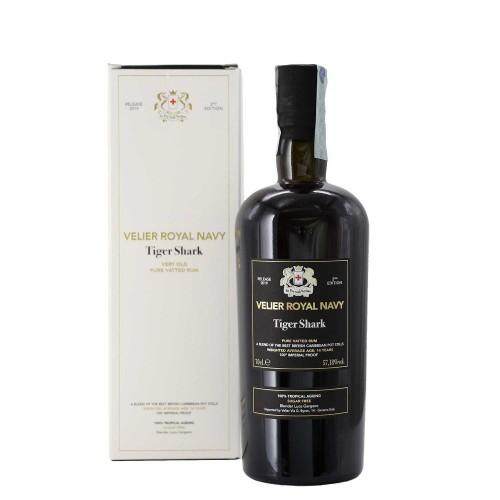 pure vatted rum velier royal navy tiger shark 2 edition 70 cl velier - enoteca pirovano