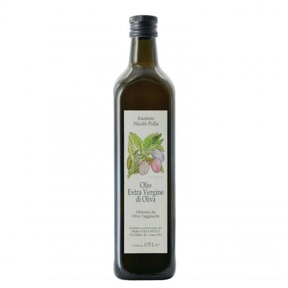 olio extravergine di oliva ottenuto da olive taggiasche 75 cl frantoio nicolo' polla - enoteca pirovano