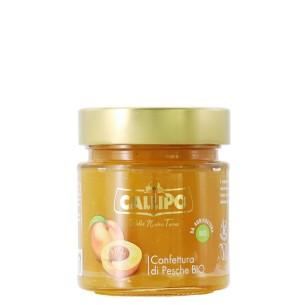 Organic peach jam 280 gr callipo - enoteca pirovano