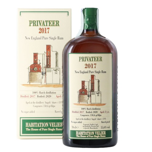 pure single rum 3 anni habitation velier 2017 70 cl privateer - enoteca pirovano