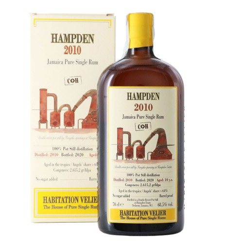 pure single rum habitation velier hampden c h 2010 70 cl - enoteca pirovano