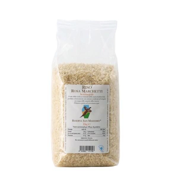 riso rosa marchetti semintegrale 1 kg riserva san massimo - enoteca pirovano