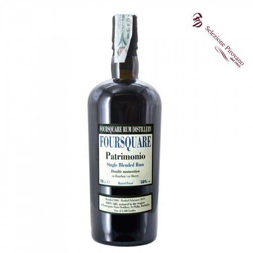 rum single blended patrimonio duble maturation 70 cl foursquare - enoteca pirovano