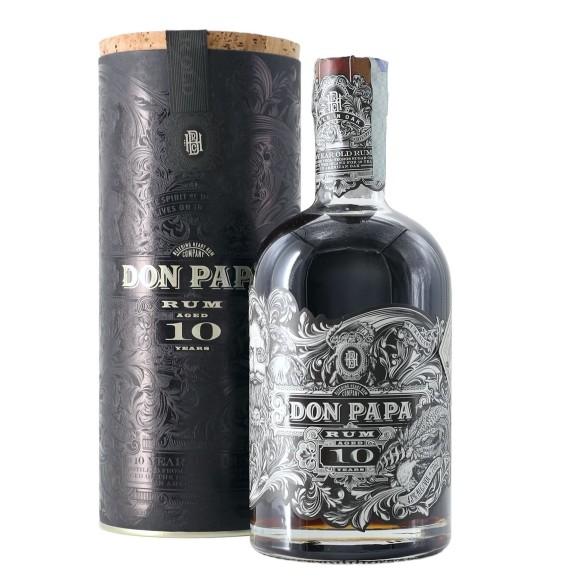 rum don papa 10 anni 70 cl - enoteca pirovano