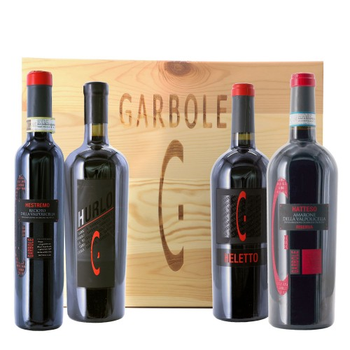 hatteso - heletto - hurlo - hestremo garbole collection in wooden box - enoteca pirovano