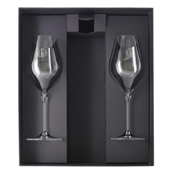 two wine glasses set leclerc briant - enoteca pirovano
