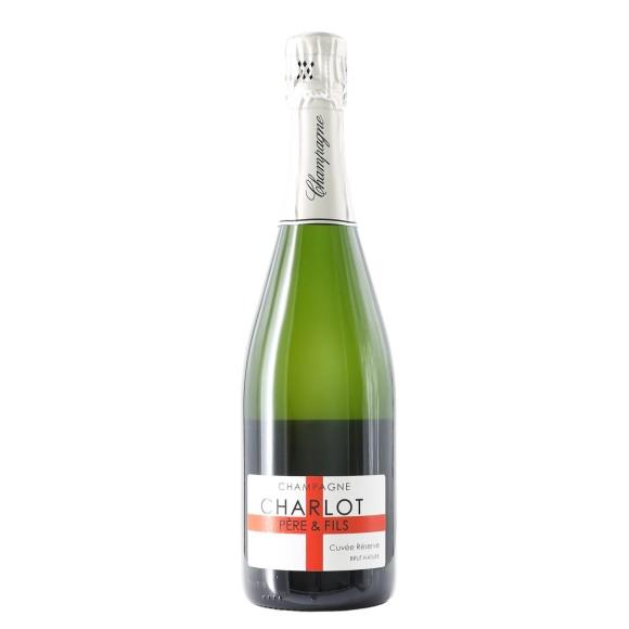 """champagne brut nature cuvée réserve"""" 75 cl charlot - enoteca pirovano"""