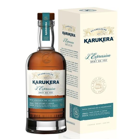 rhum agricole l'expression brut de fut 70 cl karukera - enoteca pirovano