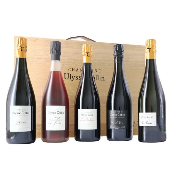 champagne collezione quintet ulysse collin in wooden box - enoteca pirovano