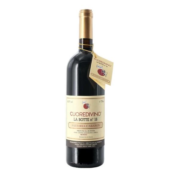 cuore di vino la botte n. 18 rosso 2016 75 cl cabanon  - enoteca pirovano