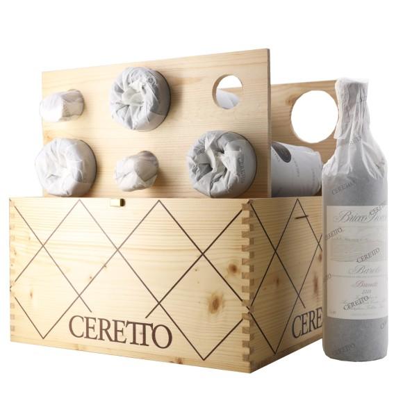 cassa verticale 12 bottiglie barolo bricco rocche brunate 2005/06/07/08 75 cl ceretto - enoteca pirovano