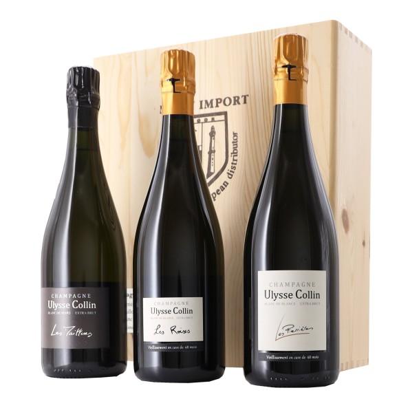 cassetta edizione limitata champagne ulysse collin 75 cl x 3 - enoteca pirovano