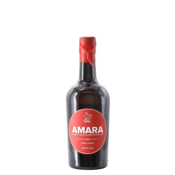 amara amaro di arancia rossa di sicilia igp 50 cl - enoteca pirovano