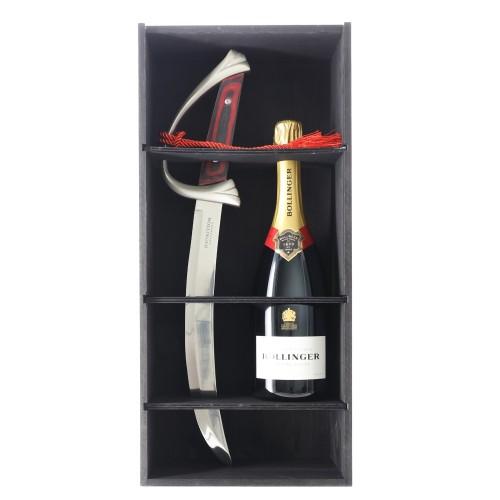 champagne brut special cuvee 75 cl bollinger con sciabola in cassetta legno - enoteca pirovano